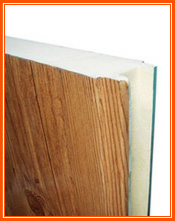 Wood imitation sandwich panels